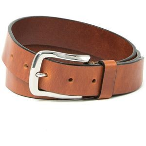 BOCONI Leather Burnished Belt 32
